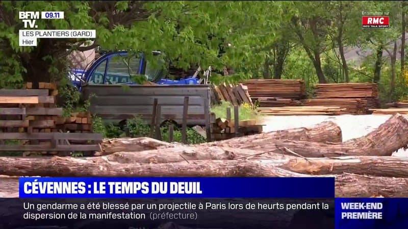Cévennes: le village des Plantiers fait son deuil