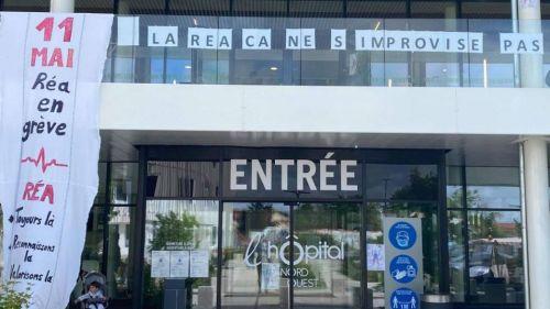 En grève à Lyon, Villefranche-sur-Saône et dans toute la France, les services de réa veulent être mieux reconnus